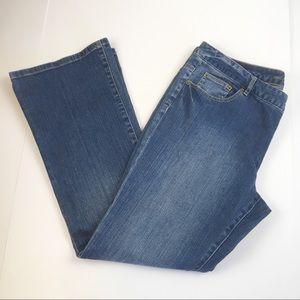 Michael Kors Medium Wash Boot Cut Jeans Size 14